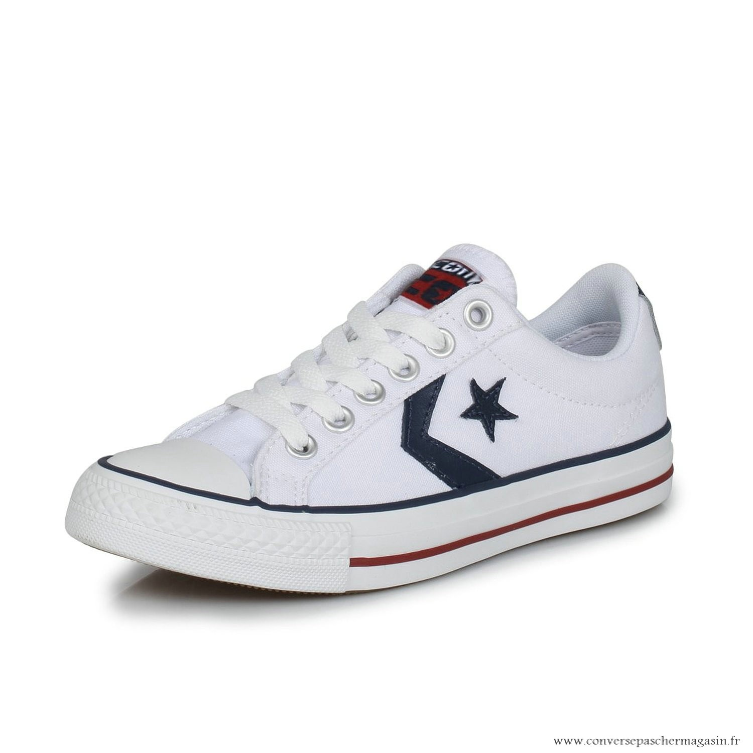 converse homme blanche basse