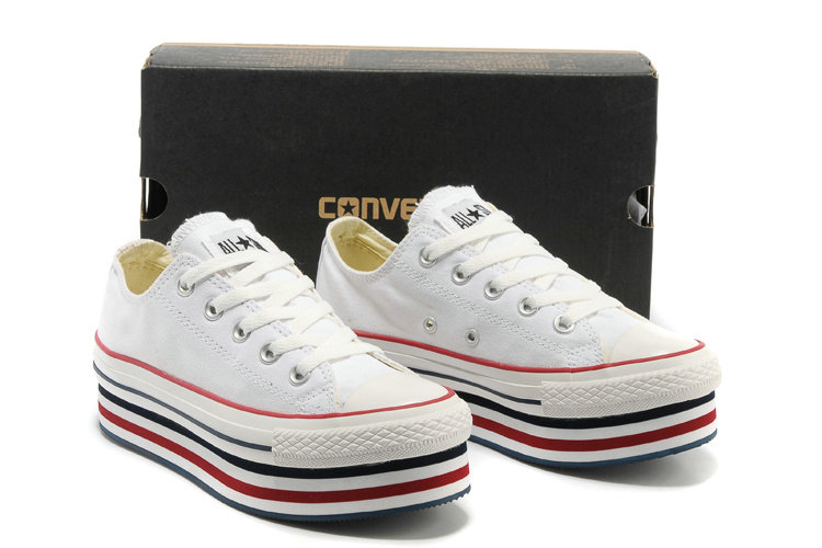 converse plate forme femmes blanche