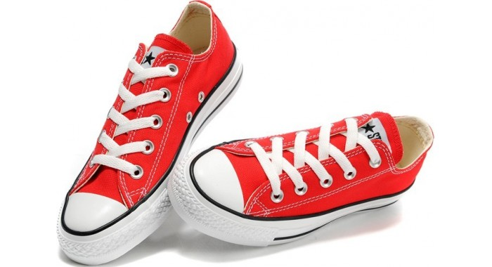 converse rouge basse femme